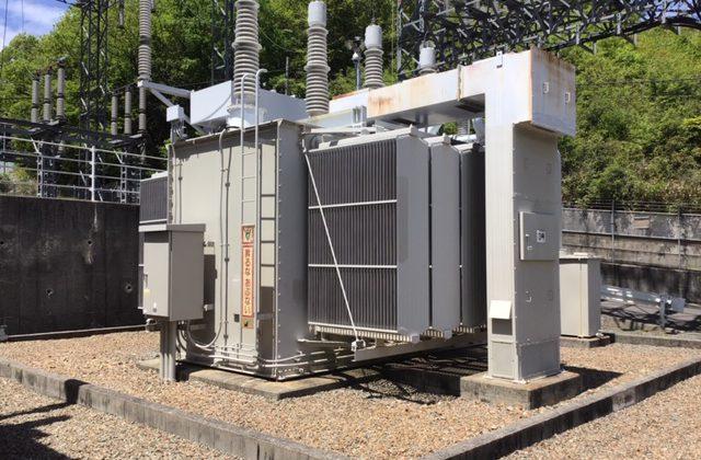 画像:中型変圧器 解体(WJ工法)
